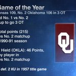 Can the rematch live up to the season's first meeting? No. 6 Kansas-No. 3 Oklahoma, 2:30 ET (ESPN/ESPN App) https://t.co/8sZZfUFk2S