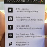 Be sure to visit the @4GoodSake booth in CF. 100% of today's proceeds go to @giantscommunity ❤️ #SFGFest https://t.co/ZWHL4Ecum0