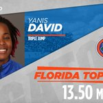 In her third collegiate jump, @Yaniis_Dav now ranks No. 3 on UFs all-time top 10, No. 2 in Div. I for 16 #GoGators https://t.co/9sST9zjAuy