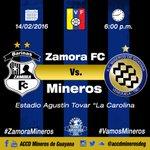 ¡Nuestro próximo encuentro será en Barinas con transmisión de @MeridianoTV! #VamosMineros ⚫️????⚽️ #ZamoraMineros https://t.co/SNVEyWPlYg