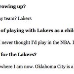 A reporter asked Russell Westbrook today if he wants to play for the Lakers https://t.co/FwTiQx30pV