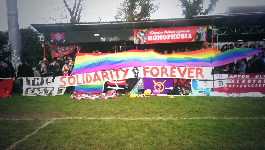 Fight homophobia. Solidarity Forever. @ClaptonUltras @FvHtweets https://t.co/e42Gk2Qdwe