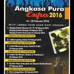 Ikuti dan Saksikan Angkasa Pura Expo 2016 di atrium arrivall SAMS Sepinggan Airport 14-28 Februari 2016 @AP_Airports https://t.co/6xxcV0Y6aG