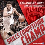 Karl-Anthony Towns wins the Skills Competition! https://t.co/hZ8FzAhoW1