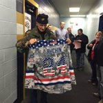 This is awesome!! @WHSJaguars hockey honors 92 y/o Bernie Ruchin, a WWII & Korean War vet #NH #WMUR https://t.co/esRr8oHXBG