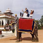 Antonin Scalia and Ruth Bader Ginsburg ride an elephant together in India, 1994 https://t.co/hJlHRtIuuS https://t.co/iwWQ5FqCkr