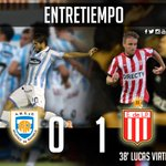 #EDLP Finalizó la primera mitad. Con un golazo de Lucas Viatri, Estudiantes gana 1 a 0 ante Rafaela. https://t.co/ppKXY3f2nU