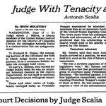 """June, 1986: """"Judge With Tenacity and Charm: Antonin Scalia"""" https://t.co/AI042gFzE0 https://t.co/1anKwViPJ2"""
