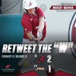 #RollTide Peyton Grantham drives in Runyon with a walk-off single to give @AlabamaSB the win over #19 James Madison! https://t.co/wpCKTl5gWq