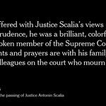 Bernie Sanders released a statement on the death of Justice Antonin Scalia https://t.co/JLu1EKc0wQ https://t.co/0hxXTXhjs0