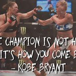 Kobe Bryant reached out to Ronda Rousey after her loss to Holly Holm and had some inspiring words for her. https://t.co/hHdTry2zWo