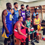 El pose de los participantes al retos de las habilidades #NBAAllStarTO #NBAenTN8 https://t.co/rMGlcHg1Af