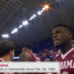 Roll Tide Roll!  @AlabamaMBB wins 61-55 over the Gators, their 1st win in Gainesville since 1995. #BuckleUp https://t.co/20F7rrk9rV