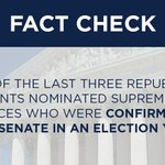 Fact check: Supreme Court justices have been appointed and confirmed in election years. #GOPDebate https://t.co/aAnavO2AFO