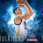 #KlayThompson wins the Three-Point Contest with a final round score of 27!!!! Congrats @KlayThompson! https://t.co/Re6utIFucA