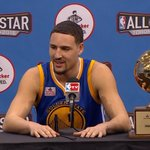 #KlayThompson says he has bragging rights over @StephenCurry30 for 364 days. Watch: https://t.co/qEPks4aoYx https://t.co/J6PYdtTBin