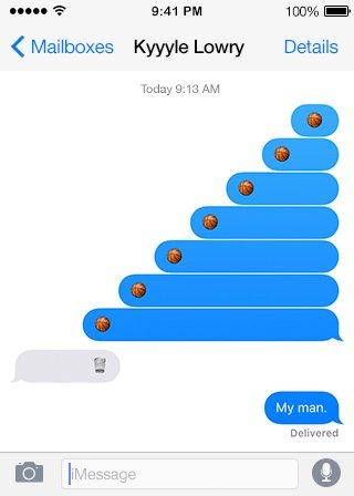 .@klow7 with the assist #BMOBallstar #TextsFromBallStar #NBAAllStarTO https://t.co/jHnIWnzt4F