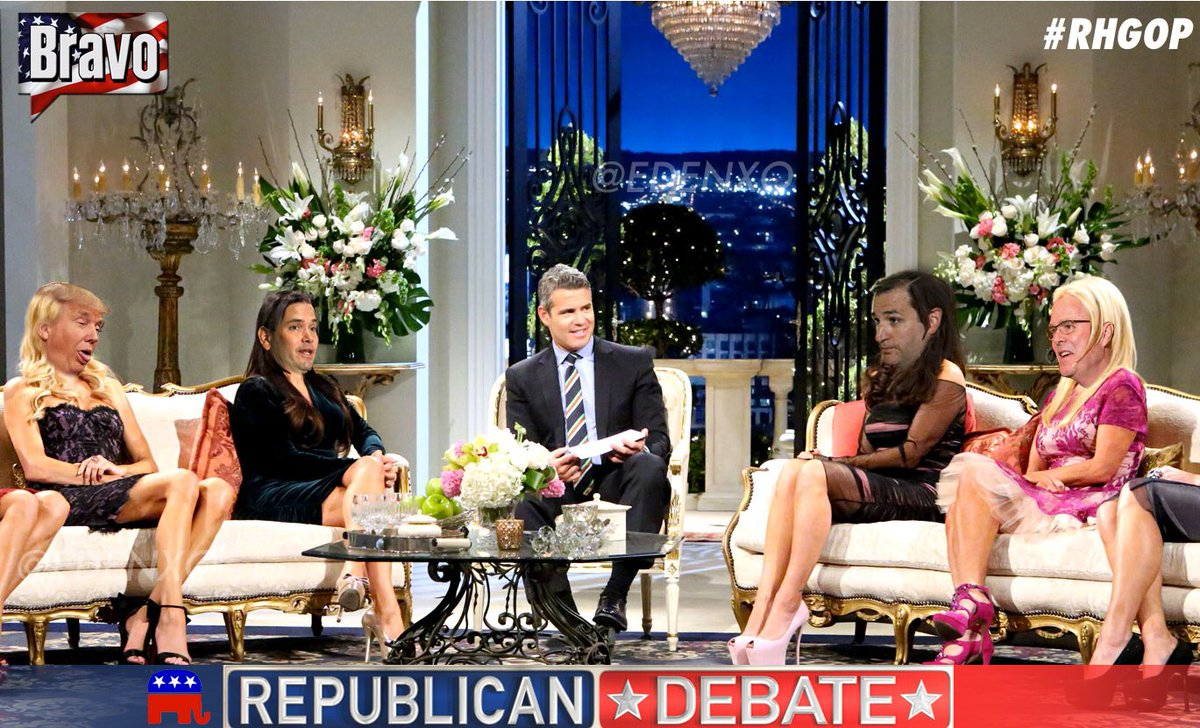 Who else watched the #RHOBH Reunion- OOPS, I mean #GOPDebate tonight?