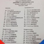 By Arsenal: The teamsheets are in for #AFCvLCFC! Thoughts on the Arsenal line up? https://t.co/pvJxV1ekfF https://t.co/DSliBPCzRw