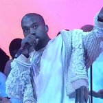 """Kanye West performs """"Ultralight Beam"""" with Chance the Rapper and Kirk Franklin on #SNL https://t.co/67zuNJ3dbY https://t.co/aVRGfdnGoy"""