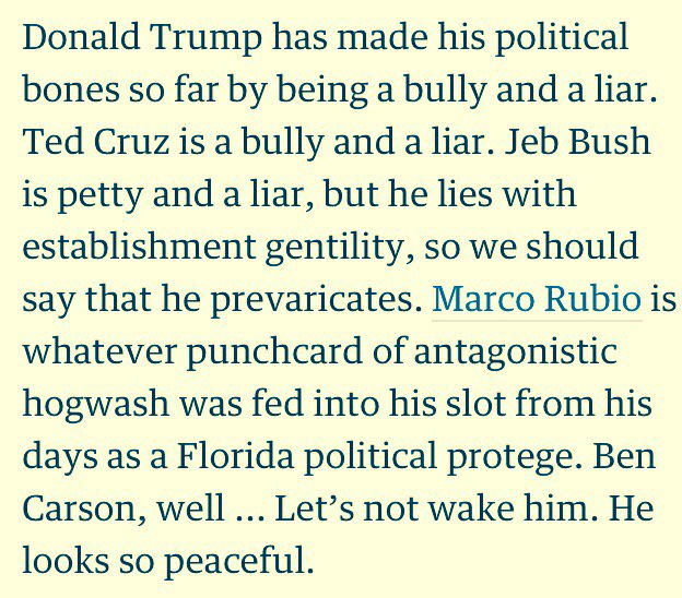 This paragraph on the #GOPDebate is a thing of beauty https://t.co/08C19pqFzO @Mobute @guardian https://t.co/bAc0xRfdFd