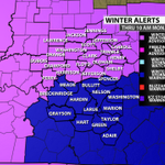Winter Storm Warning posted for counties in blue until 10 AM Monday. Winter Weather Advisories for the rest of us. https://t.co/7gZ0KKL2Z4