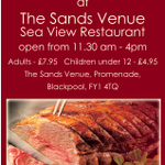 Join us today from 11:30 in the Seaview @SandsVenue for #Sunday #carvery #UKLunchHour #BizHour #Blackpool https://t.co/zin0KAqN8v