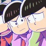 【第19話まであと1日】TVアニメ「おそ松さん」第19話より。3人それぞれが全く違う表情ですが、一体何をしようとしているのでしょうか…!  #おそ松さん https://t.co/YU7ManDR9h