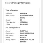Armed with this screen shot from the @ECUganda website I am off to collect my Voter Location Slip. #UgandaDecides https://t.co/QHpyig4e6s