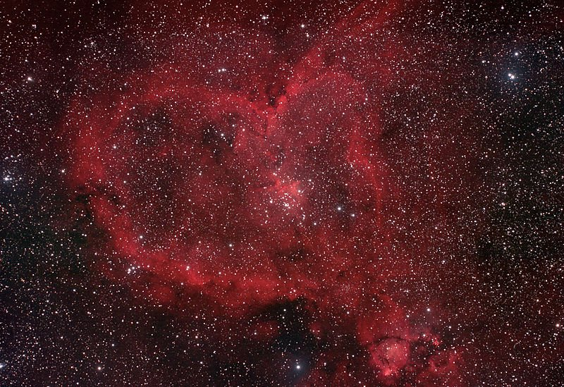 The Beautiful Heart Nebula, 7500 light years from Earth. https://t.co/xQAAVtuwiO