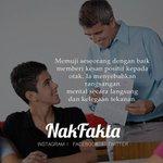 Memuji seseorang dengan naik memberi kesan positif kepada otak. #nakfakta #nakbebel https://t.co/YWmri94O0b