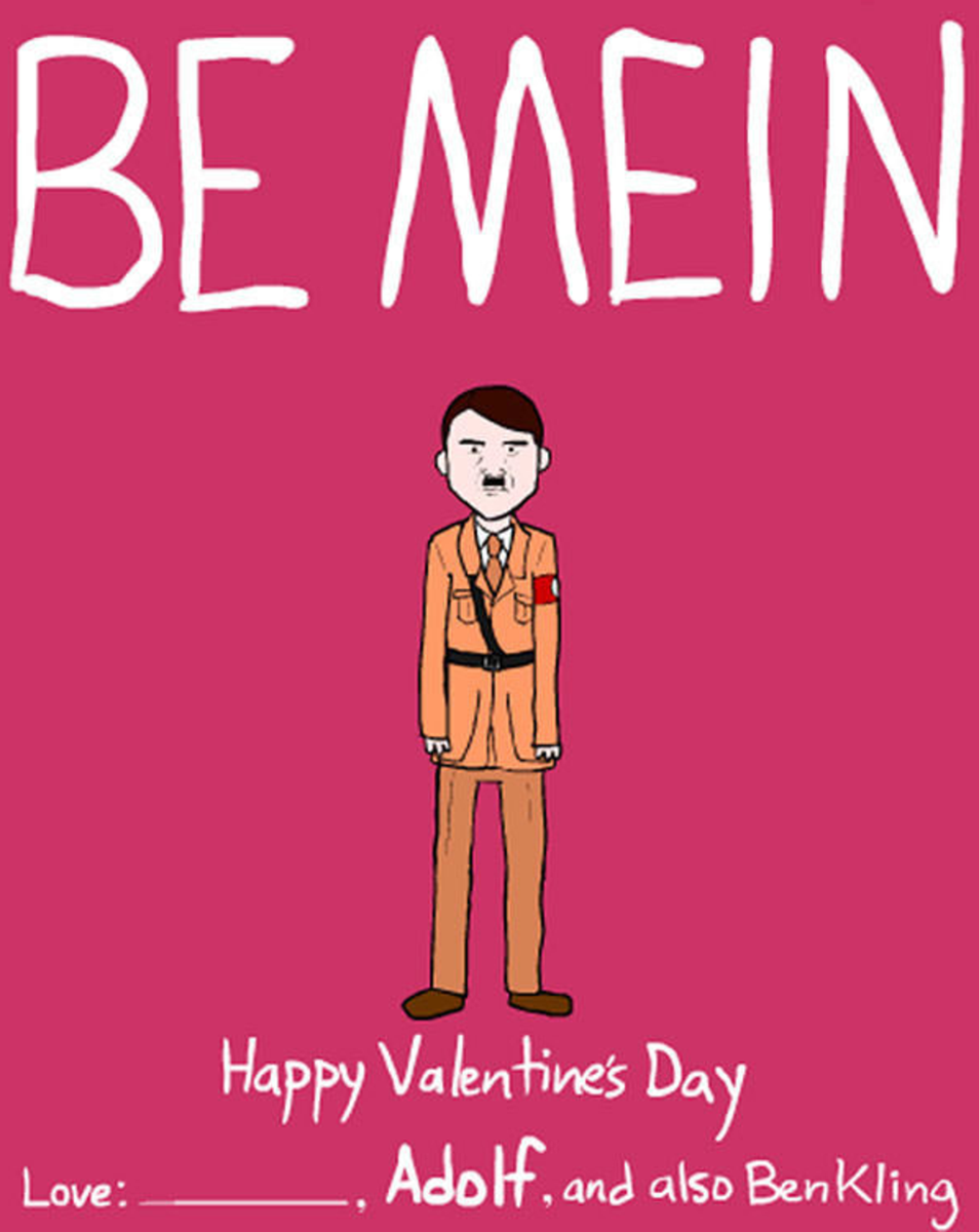 13 Inappropriate Famous People And Dictator Themed Valentines Day Cards  Https   Inappropriate Valentines Cards