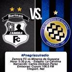¡Buenos días! Hoy Mineros de Guayana visita al Zamora FC. Conéctate con el circuito @Pnegriazulradio https://t.co/xxYSHKSmhT