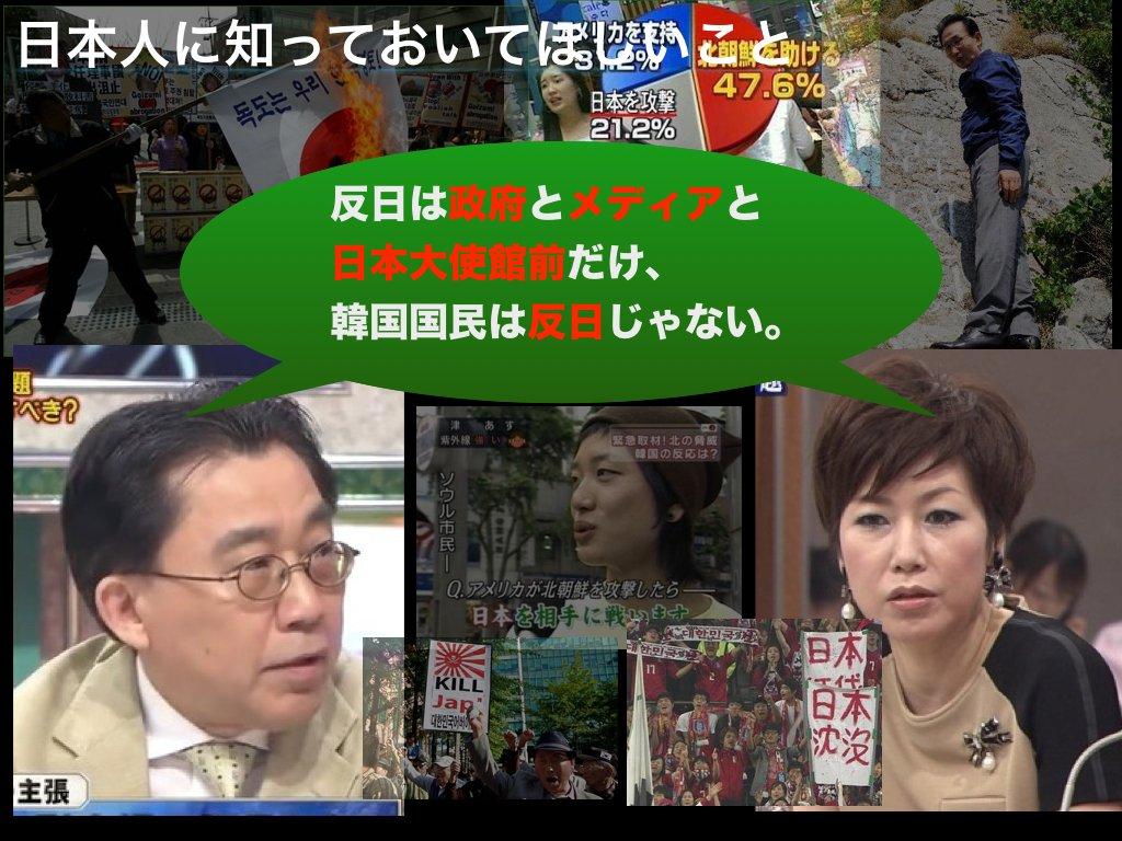 test ツイッターメディア - #日本人に知っておいてほしいこと 金慶珠氏や朴一氏が、 『反日は政府とメディアと日本大使館前だけ、 韓国国民は反日じゃない。』 と主張します。  しかし、ウィーン条約違反の日本大使館前の 慰安婦像すら撤去できない。 矛盾です。 https://t.co/eo6jsKHK2F