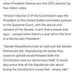 Elizabeth Warren on goes heavy on the Constitution in her Scalia replacement statement https://t.co/cDNkJIGmAW
