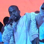 """Watch Kanye West debut """"Life of Pablo"""" songs """"Ultralight Beam"""" and """"Highlights"""" on #SNL https://t.co/slkDgzdak3 https://t.co/czm2GMNTLW"""