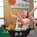 HALFTIME: NDSU 35, Omaha 27. Bison shooting 46 percent from the field and outrebounding the Mavs, 20-14. #SummitWBB https://t.co/itBjRZoo0l