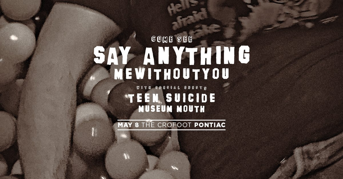 RETWEET for a chance to win tickets to see @SayAnythingMuz @mewithoutYou at @TheCrofoot! - https://t.co/wnzzaLKmoq https://t.co/xOpaeiYSXF