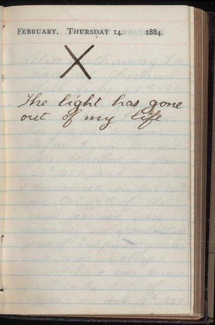 Theodore Roosevelt's diary on Valentine's day, after his wife and mother died on the same day in 1884. https://t.co/X5wXKYo9Qm