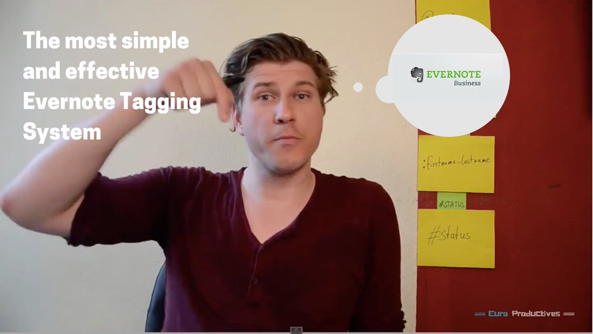 How @EnricoNahler uses Tags inside @Evernote - fantastic video! https://t.co/sAGMTYsdQ1 https://t.co/eokeqIFXyH