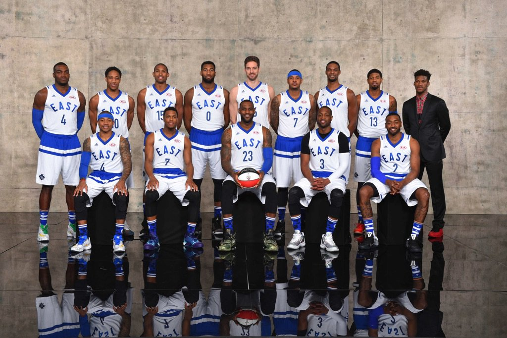 The official #NBAAllStarTO team portraits! https://t.co/I8lwcVd9CZ