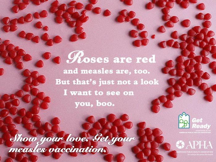 Roses are red & measles are too, but that's just not a look I want to see on you, boo. #ValentinesDaySurvivalTips https://t.co/fUMi299RWS