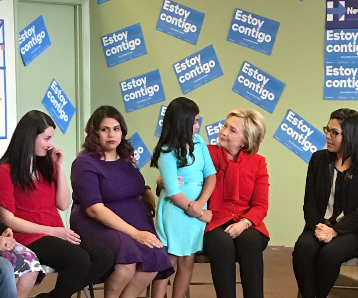 Not a dry eye as Baby Karla tells @HillaryClinton her story and her fear of deportation https://t.co/vLB4pC16C9
