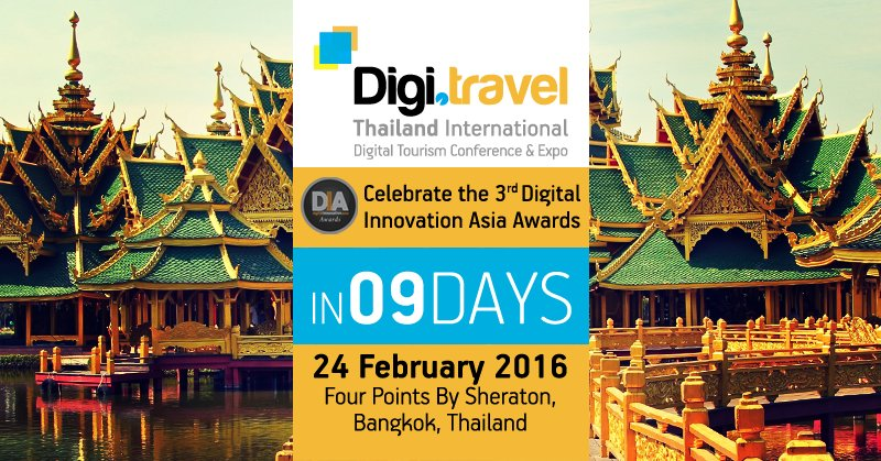 Nine days to the #DigiTravel Conference in #Bangkok. Register Today to reserve your seat! https://t.co/FYmFObbgeA https://t.co/q5naMujy4J