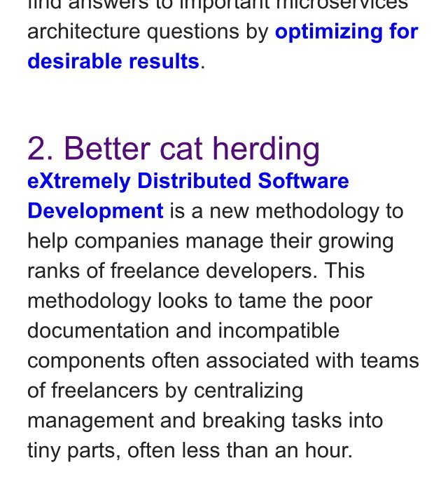 Better cat herding - extreme disrupted SW development analogy via @OReillyMedia made me think of @ZwartblesIE https://t.co/I3RiMUxYlX
