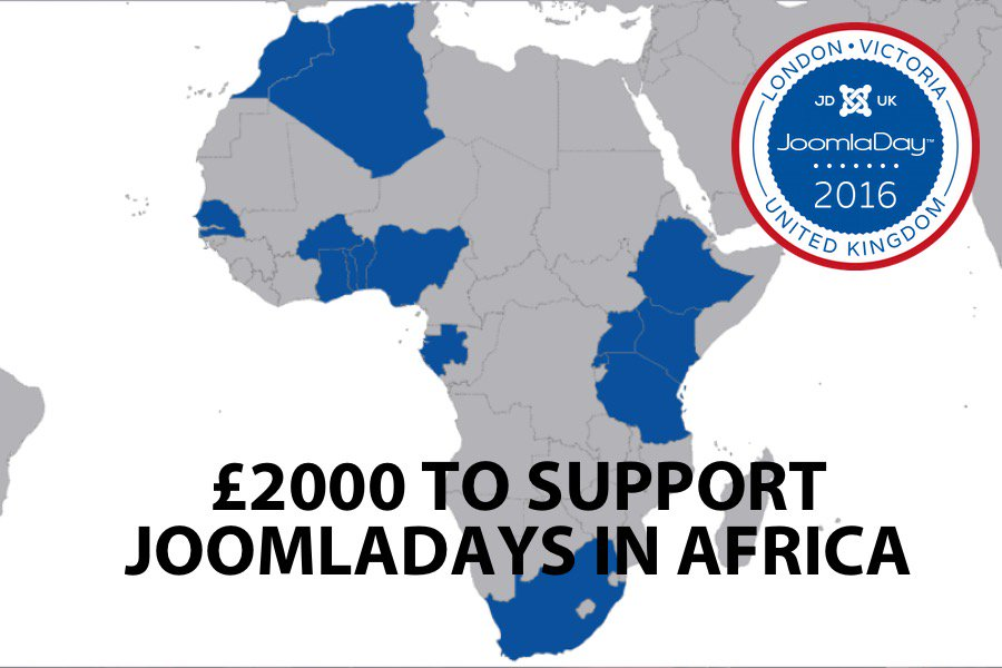 JoomlaDay UK made a £2000 donation to OSM to support #joomla events in Africa #jd16uk https://t.co/MaPsCY8ASj