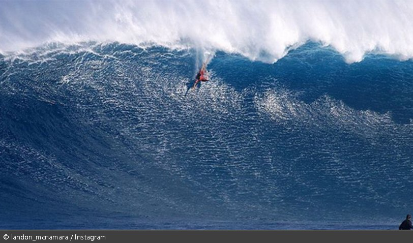 'Holy Jesus!' Surfer wipes out on monster wave known as 'Jaws' in Hawaii (VIDEO)