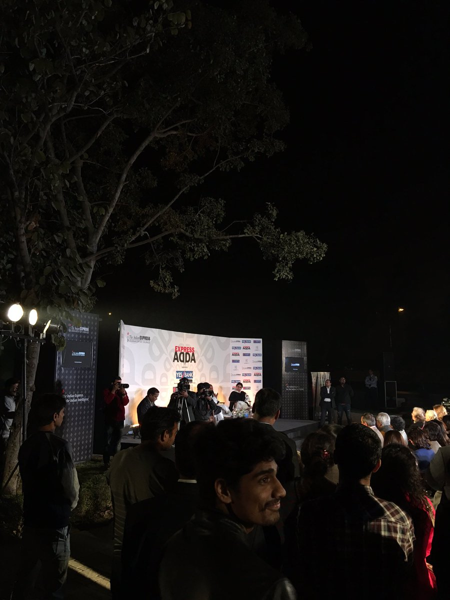 """""""Spirituality is not selfish. It's about seeing the self in everyone:"""" @SriSri at #ExpressAdda https://t.co/T8283tgUCR"""
