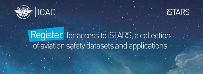 Register for access to iSTARS a collection of aviation safety datasets & applications