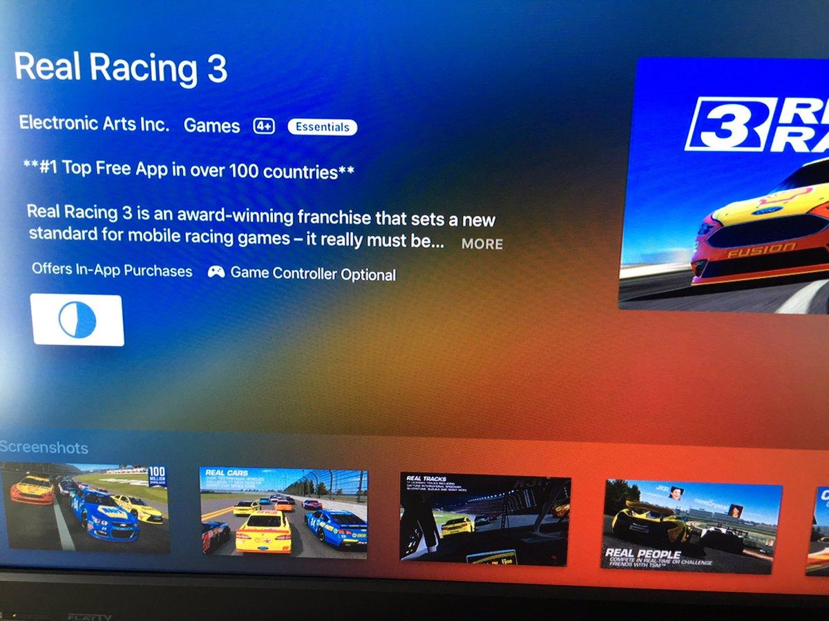 Real Racing 3 is out now on Apple TV and Android TV devices. Includes split screen play. https://t.co/AGffpvBsTd